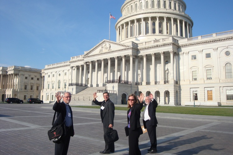 Faith advocates journey off for a day on The Hill to speak with legislative offices.