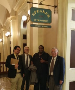 (from right) Rick Bettis, Clando Brownlee, Brickton Kristy, and David Chiu end the day at Assembly Speaker Rendon's office.